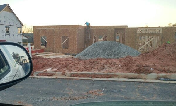 New house progress. Putting in the ground floor.