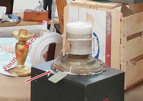 Lamp Base Candle Holder