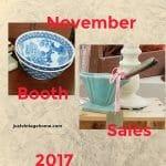 November Booth Sales