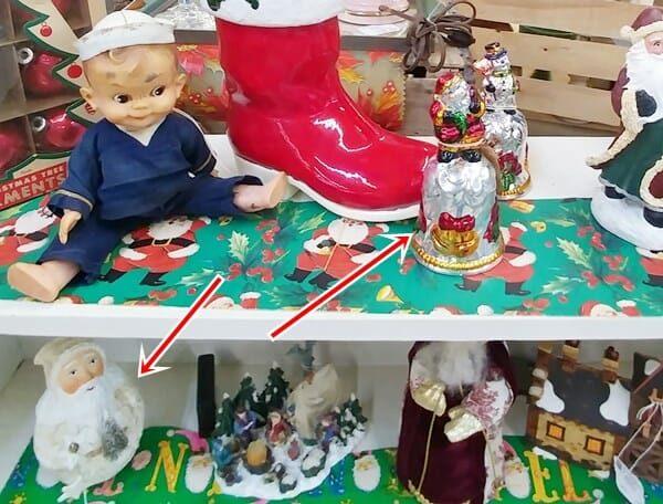 Snowman and Santa Christmas Bells