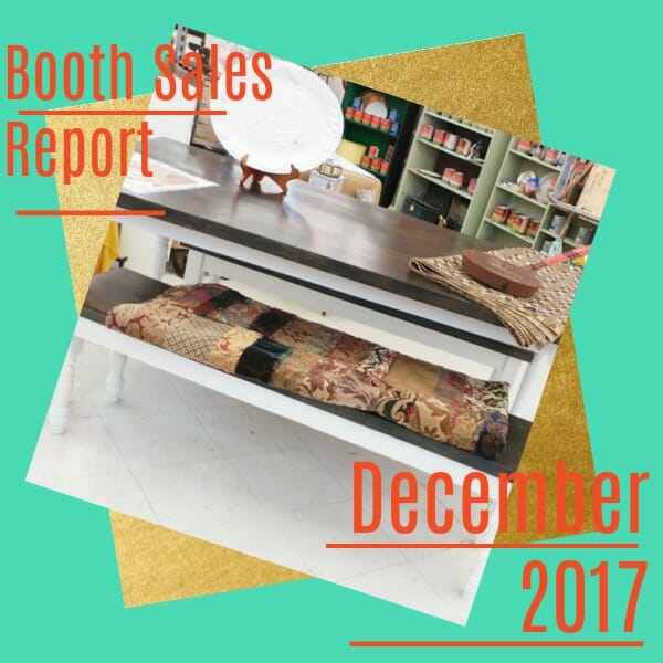 December Booth Sales Report 2017