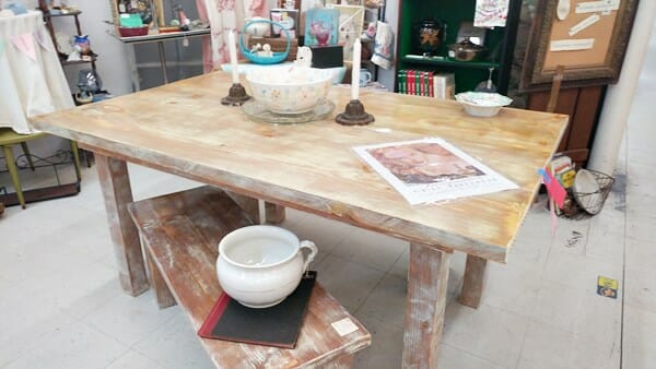 Farm table and benches