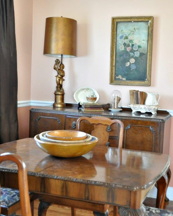 Small dining room with vintage French furniture