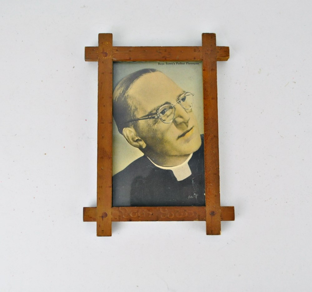 1940s Boys Town Frame with Print of Father Flanagan