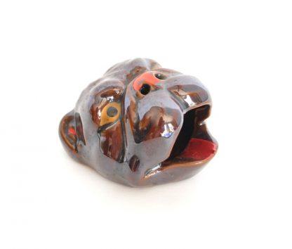 Bulldog head ashtray