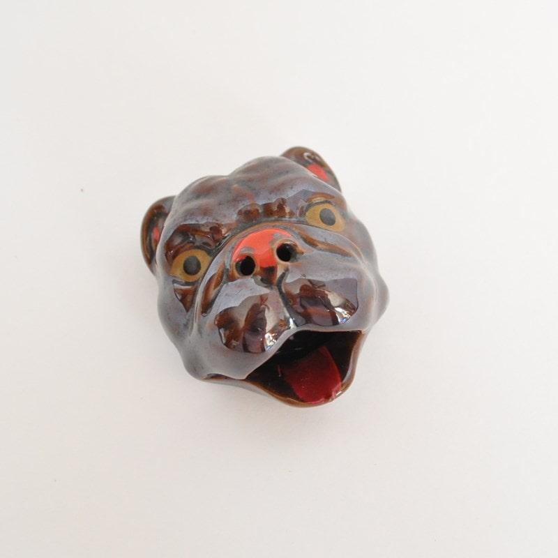 Mid Century Bulldog Ashtray Novelty Smoking Item