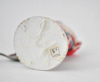 Bottom of vintage chenille Santa showing original price sticker