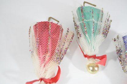 Vintage umbrella Christmas ornaments