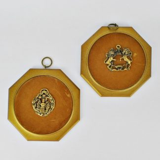 Coat of arms plaques, vintage 1960s