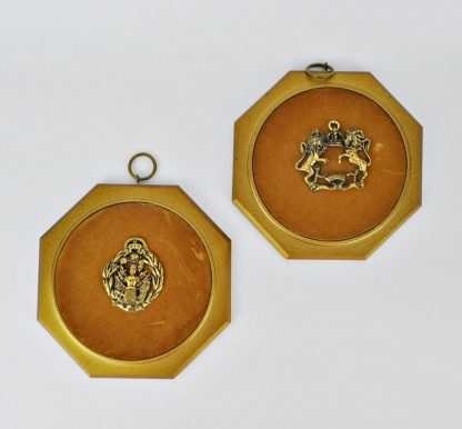 Coat of arms plaques, vintage 1960s