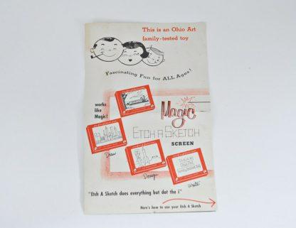 Vintage Original 1960s Etch a Sketch Instruction booklet