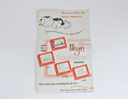 Vintage Original 1960s Etch a Sketch Instruction booklet