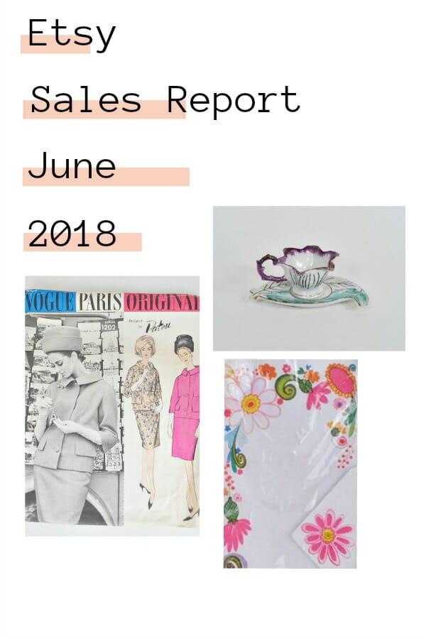 June 2018 Etsy sales report