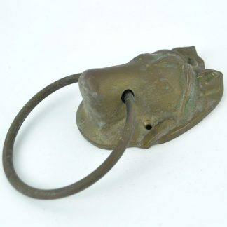 Large vintage brass horse head door knocker