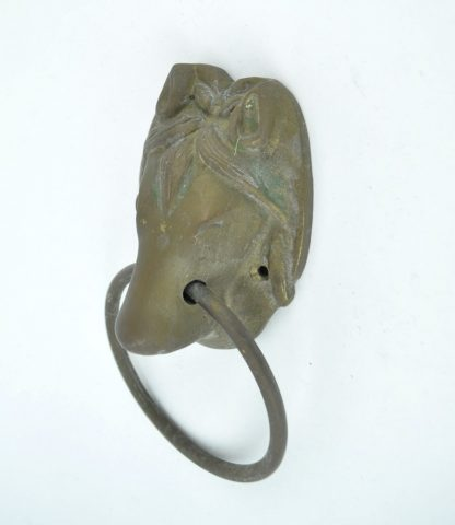 Vintage brass horse head door knocker