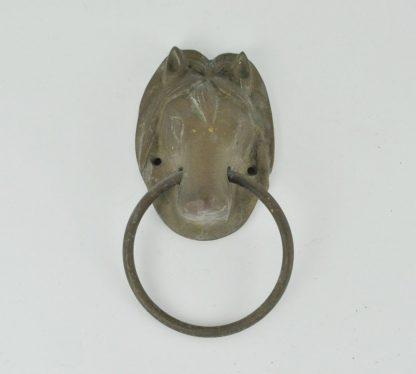 Large brass horse head door knocker