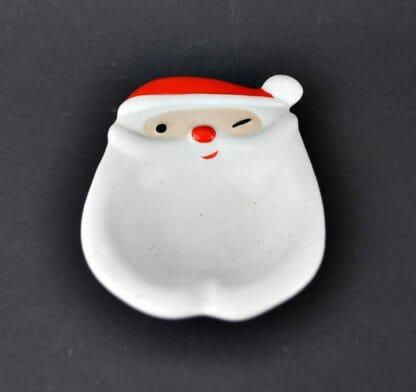 Vintage Napco winking Santa ashtray