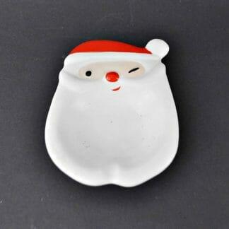 Vintage Napco winking Santa ashtray or candy dish