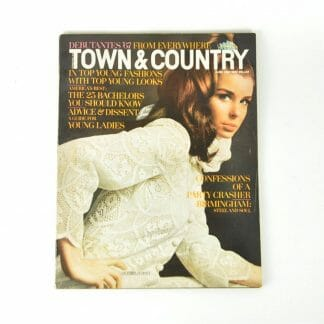 June 1967 Town and Country back issue with Victoria Lou Schott on the cover and featuring Birmingham, Alabama with ads local to Birmingham and Alabama including Bear Bryant and Shug Jordan Golden Flake ad.