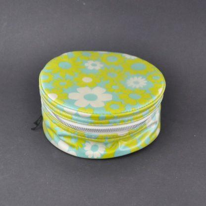 Hippie floral zipper jewelry case