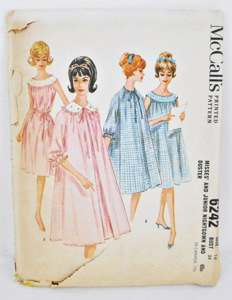 McCall's 6242 Nightgown and Housecoat Pattern Bust 34