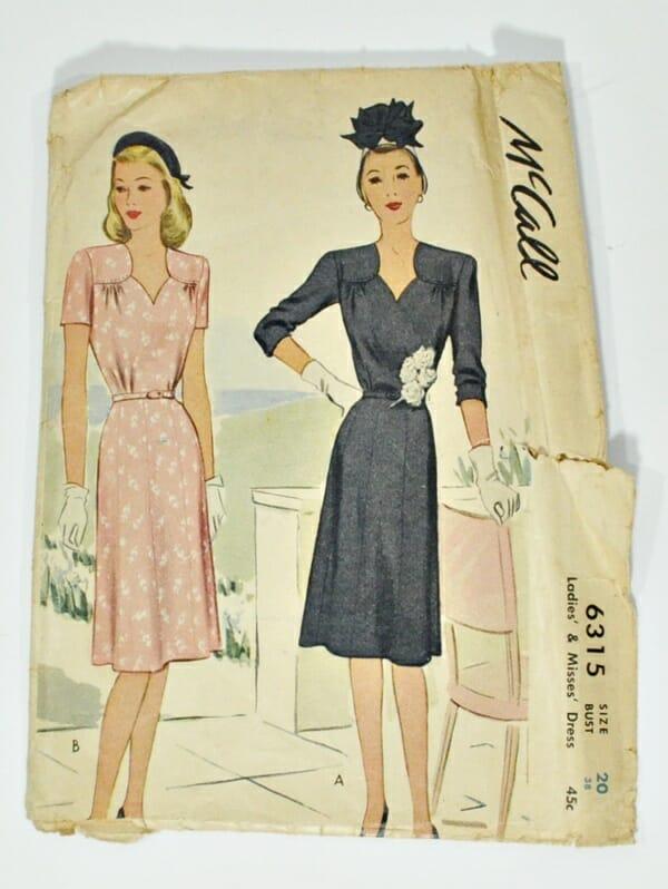 Vintage dress pattern, McCall's 2316