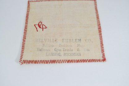Melville Emblem Company mark on 1947 Miller Award patch