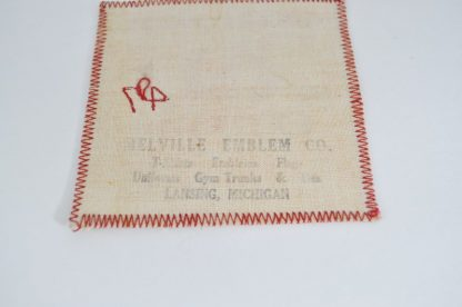 Melville Emblem Company mark on 1947 Miller Award patch