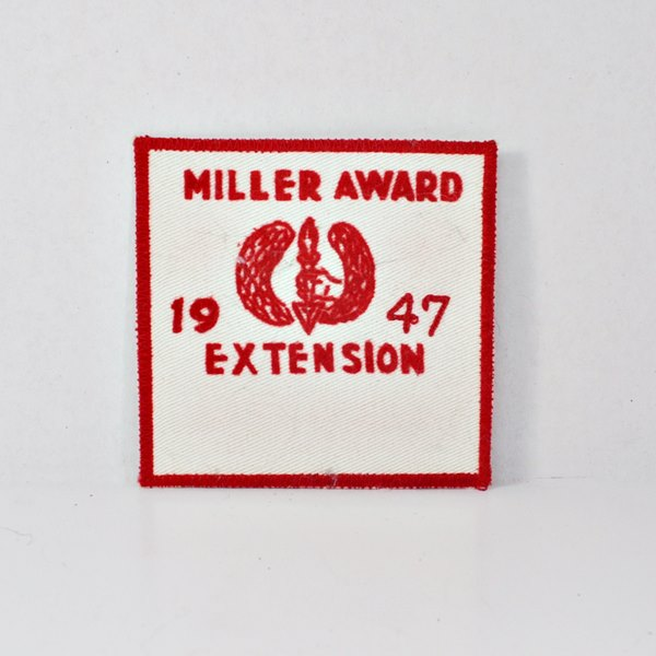 Vintage Patch with Red Stitching – 1947 Miller Award Extension