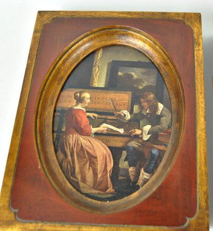 Gabriel Metsu Man and Woman Sitting At the Virginals