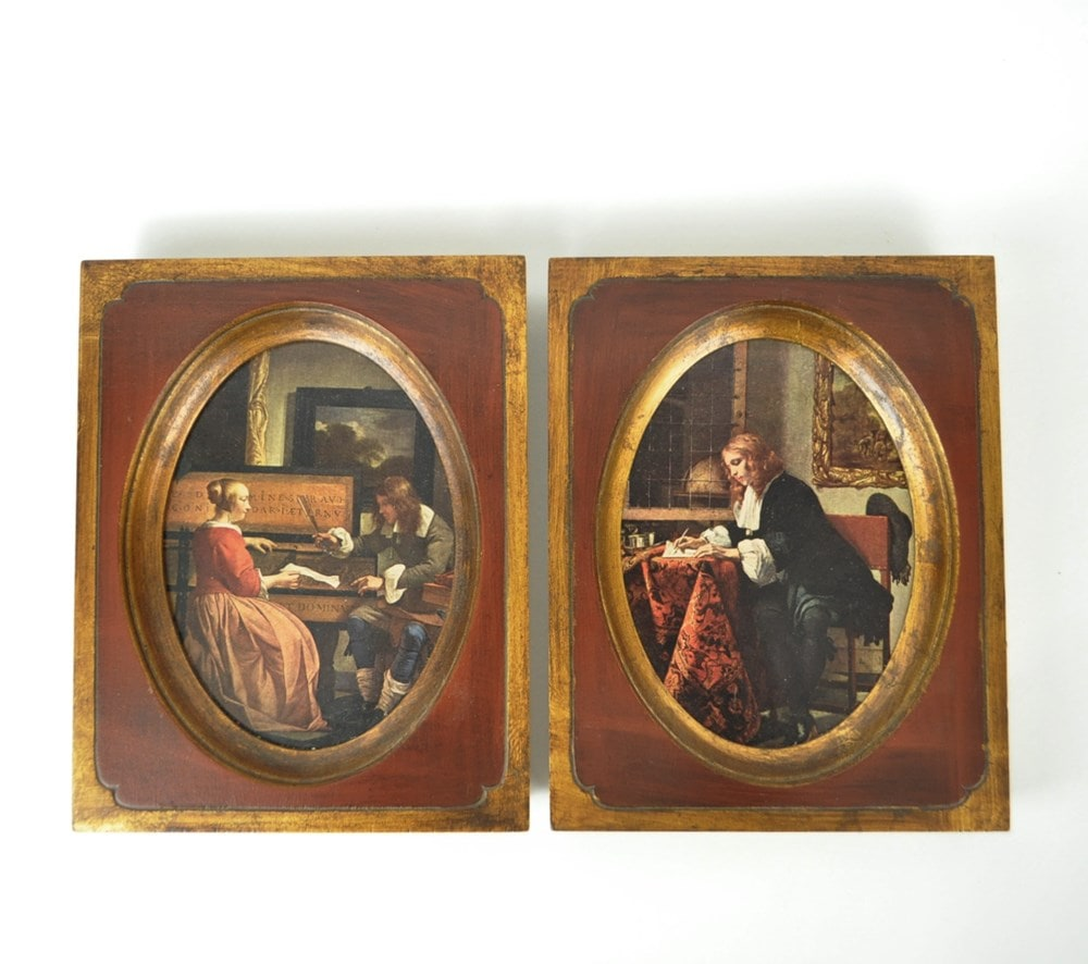 Pair of 1970s Gabriel Metsu Framed Prints