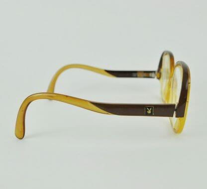 Side of vintage Playboy eyeglasses