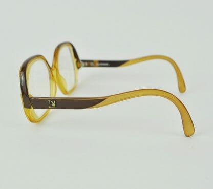 Side of vintage 1980's Playboy eyeglasses
