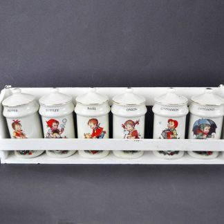 Vintage spice rack, Hummel style, from the 1980s