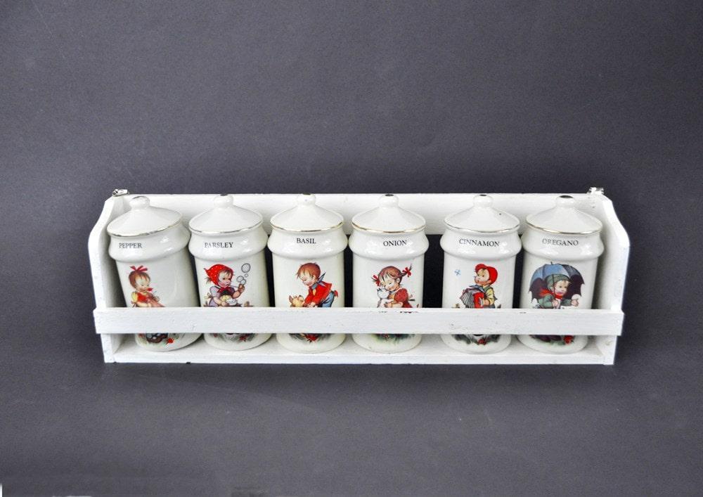 Vintage Spice Rack Set Hummel Style