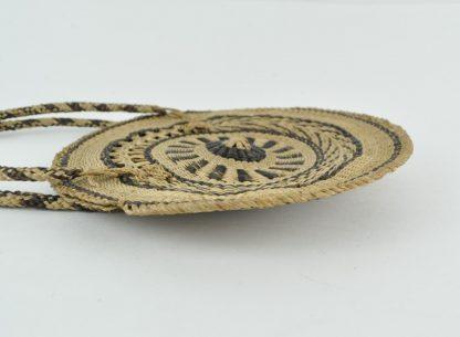 Woven Boho straw purse side view