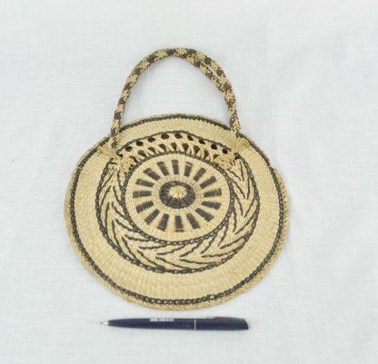 Boho straw purse size