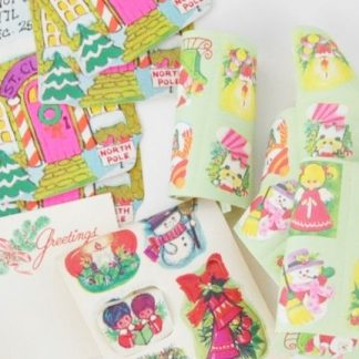 Vintage Christmas stickers, Christmas seals and gift tags from the 1960's for sale