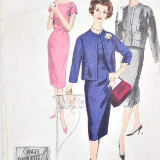 "Vintage Vogue 183 - 34"" bust - 1950s couturier dress pattern"