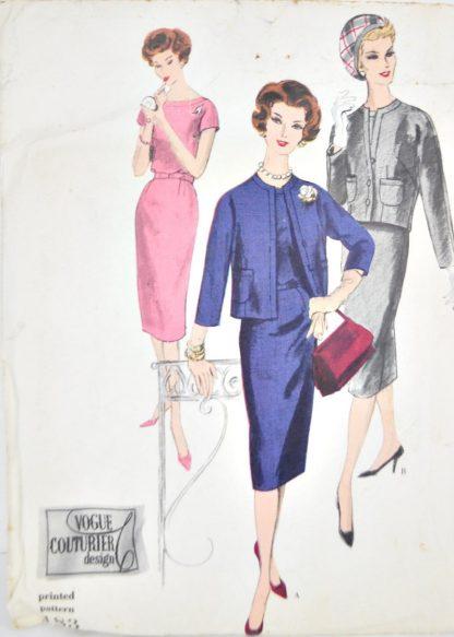 "Vintage Vogue 183 - 34"" bust - 1950s couturier dress pattern"