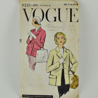 Vintate Vogue 9231 jacket pattern