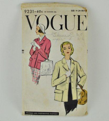 Vintate Vogue 9231 jacket pattern