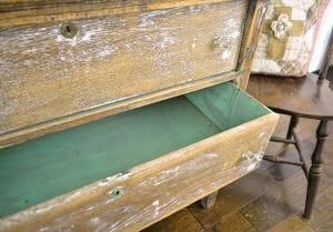 Paint color on old, oak chest