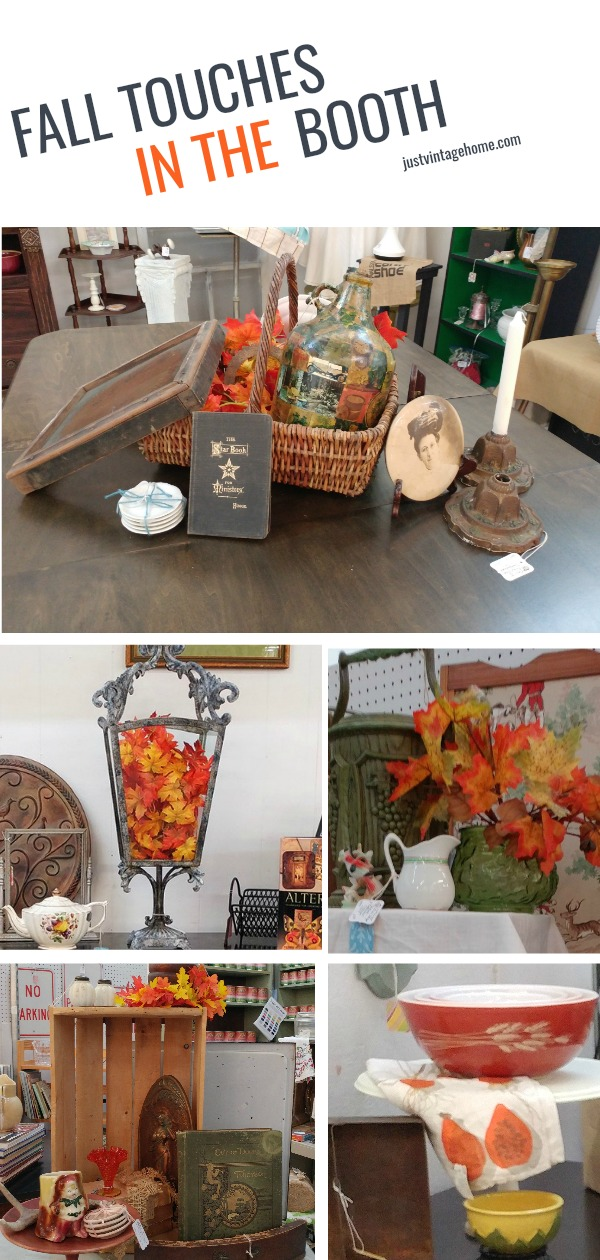 Adding touches of fall to the booth at Angel's in Opelika, Alabama