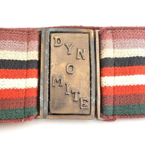 Vintage Dyn-O-Mite belt buckle and belt sold on Etsy