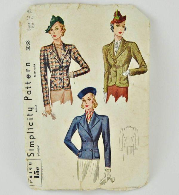 Vintage Simplicity jacket pattern, 3038. Sold on Etsy