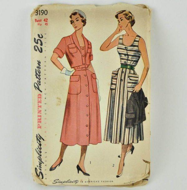 Vintage pattern, Simplicity 3190, sold on Etsy