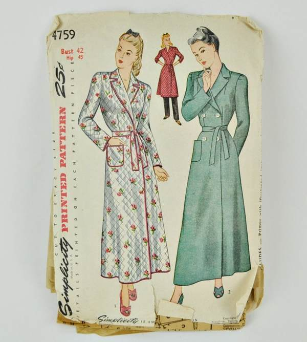 Vintage pattern, Simplicity 4759, sold on Etsy