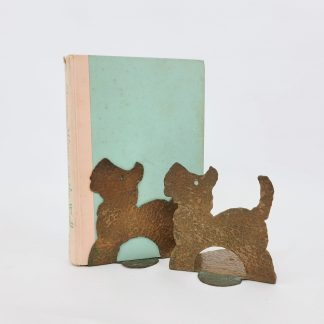 Arts and Crafts Hammered Copper Scottie Bookends