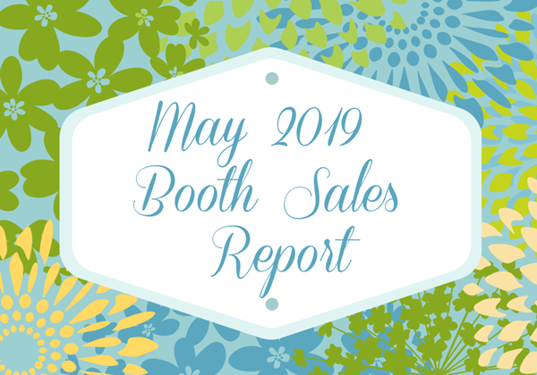 May 2019 booth sales report